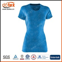 2015 moisture wicking dry rapidly fit ladies v-neck graphic t-shirt