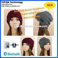 headphone bluetooth beanie headphone cap double sided wear