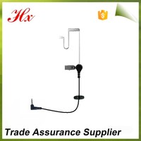 simple 3.5mm only listen acoustic tube for mobile phone/two way radio