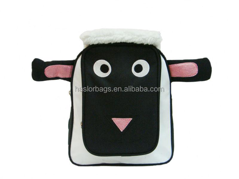 3D effet moutons forme sacs, Enfants mignon en peluche Animal Zoo sac à dos pour l'école