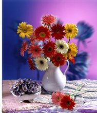 Hot selling top Lenticular 3d flower oil painting