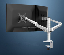 With Computer Holder Adjustable Height LCD Monitor Arm Stand