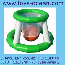 Popular entertainment games for kids, fashionable inflatable water basketball hoop / floating water games