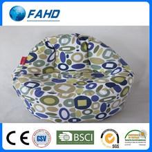 Geometric print soft fabric sofa beach lounge chair bean bag chairs