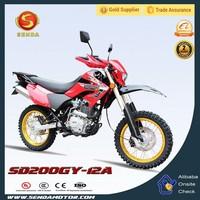 South America Popular Motorcycle High Quality Chongqing 200CC Dirt Bike HyperBiz SD200GY-12A