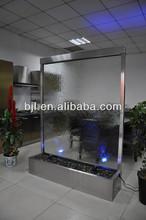 vidrio transparente templado de acero inoxidable cascada