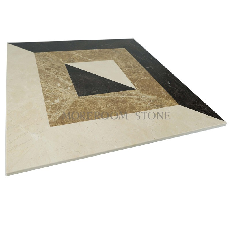MPC0001-S06G Moreroom Stone Turkish Marble Light Emperador Marble Tiles Price Beige Marble Stone Water jet Medallion Marble Flooring Polished Medallion-2.jpg