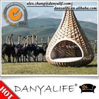 DYBED-D110G DANYALIFE Hot sale Comfortable Best Design Wicker Rattan Outdoor Hanging Sunlounge