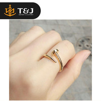 >>2015 fashion high quality Celebrity Style Screw Nail Finger Ring Women Silver Plated , Gold Plated , Black nail finger ring-