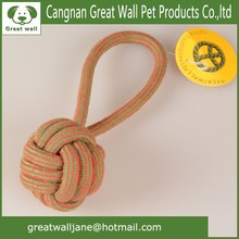 Wholesale colored weaving cotton rope pet toy for dog training