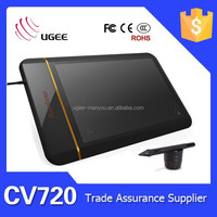 Ugee drawing tablet CV720 8x5 inches 5080LPI 2048 levels cheap graphic tablet for writing