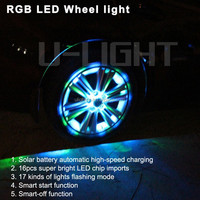Hot sell Colorful solar car wheel lights led fit all cars