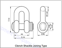 Clench Shackle Joining Type for Chain Cable