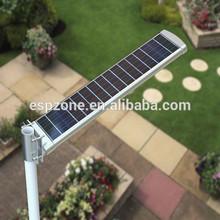 ip65 2000 lúmenes 6 metros solar led luces de la calle con el poste