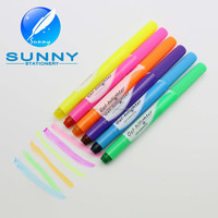 SUNNY XL-2037 kids crayon Solid Highlighter Pen,Customized logo chunky twist highlighter