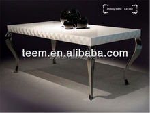 Fashionable Modern marble dining table glass dining table modern house design pvc dining chair
