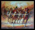 guangzhou fabricante directamente la oferta de carreras de caballos pintura al óleo