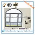Nuevo diseño arqueado ventana del marco de aluminio
