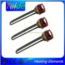 UL and TUV approved hot water heating element with thermostat