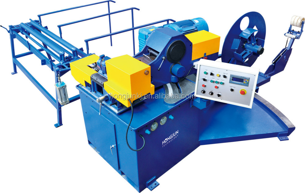 Hjtf spiral metal duct forming and cutting machine for