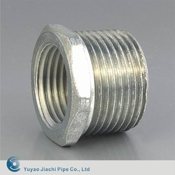 Threaded Bushed Nipple,EMT. Zinc plated iron alloy Reducing Pipe coupling Bushed Nipple
