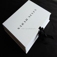 US$500 cash coupon luxury germany customized folding white wedding dress box