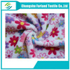 summer flowers printing soft velboa fabric