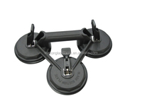 Black Powerful cheap glass table top moving suction cups