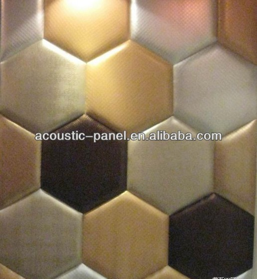 Sound Foam Panels For Walls : Leather hexagon soundproof foam acoustic wall panel yz
