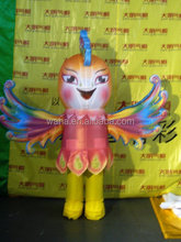 customized inflatable peacock dance costume