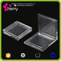 square transparent makeup plastic powder case
