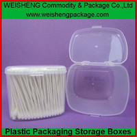 pp plastic clear cotton buds&cotton tips &cotton swabs PP box