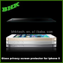 remove air bubbles glass privacy screen protector for iphone 5 5s 5c, 9H privacy tempered protector for iphone 5s