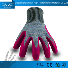 13G HPPE seamless knitted nitrile coated cut resistant gloves