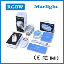 specialized manufacturer/2013 new product/smart RGB W led bulb 10w e14 e26 e27 b22 wifi control g4 led bulb