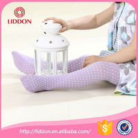 Chinese factory supply for Japanese infant girls dots printed nylon tube stockings