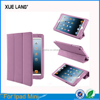 for ipad mini PU leather case ,mobile accessory for ipad mini PU leather case