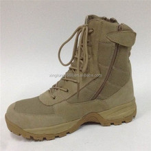 2015 best quality cheap price combat boots have 2 side zipper