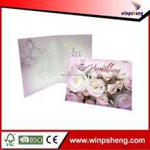 Chinese Luxury Wedding Invitation Card Fan
