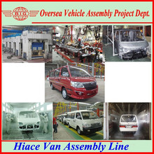 SKD/CKD supply of 4.92m-5.35m long van throughout the world for local assembling