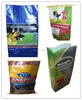 New style full color print square bottom woven dog feed bag