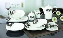 47pcs Luxury Fine Porcelain Square Dinner Set Dinnerware for 8 people