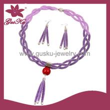 2015 FSNS-006 Latest design fashion stardust jewelry set