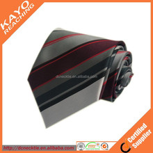 100% polyester red and black tie