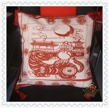 cotton 18inch pillow cover tiger pattern Chinese style