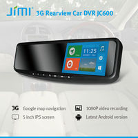 JiMi Newest 3G Smart Rearview Mirror DVR led light for car side mirror