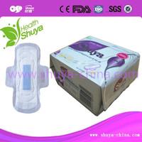 Bamboo charcoal bio sanitary napkin with negative ion chip
