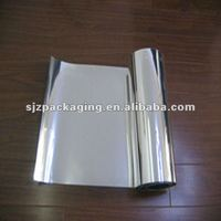 silver composite plastic aluminium metalized pet film