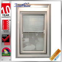 Australian design double glass louvre insert aluminium awning window with AS2047 AS2208
