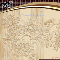 3d bamboo design wallpaper/deep embossed wall covering